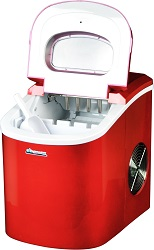 Avalon Bay AB-ICE26R Portable Countertop Ice Maker Red.