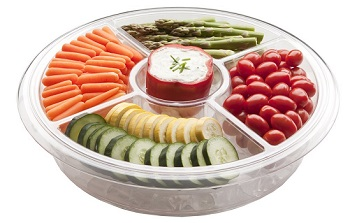 Appetizer Server with Ice Tray