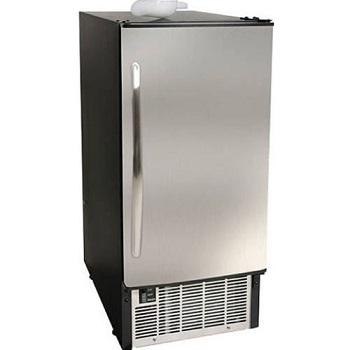 EdgeStar IB450SS Undercounter Ice Maker, Built In 45 lb, Stainless Steel Machine