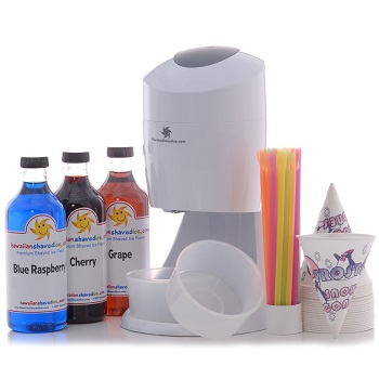 hawaiian shaved ice and snow cone machine party pack - Commercial Snow Cone Machine