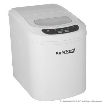 Koldfront Deluxe Stainless Steel Portable Countertop Ice Maker with LCD Display.