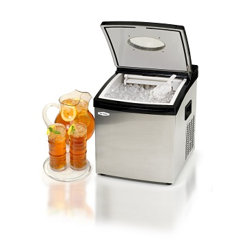 Countertop Ice Maker Clear Ice : and Compact Ice Maker Machine - For Camping, Parties, Countertop ...