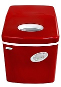 Newair al 100r 28 lb. countertop portable ice maker red