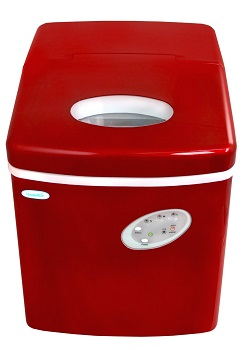 newair al 100r countertop portable portable ice maker red