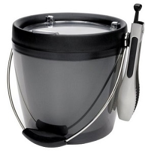 Plastic Ice Bucket with Ice Tongs