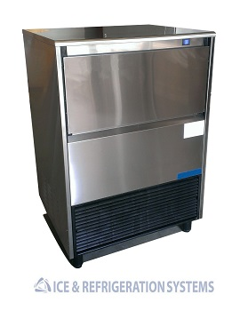 Stainless Steel 135lb Undercounter Ice Maker and refrigeration System
